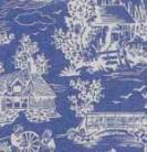 10.Reverse Toile  Blue Cotton
