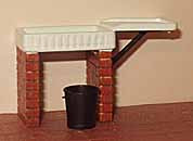 1/24th Scale Stoneware Sink kit