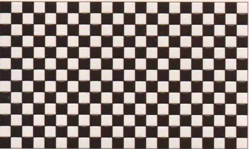 1/24th Scale Black and White Tile.