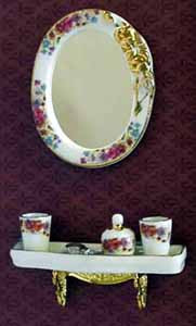 08. Reutter Dresden Rose Shelf and Mirror