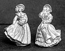 DH207 Pair of Royal Doulton Style Ladies in Winter