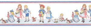43. Border Nursery Children - White background