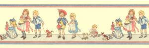 45. Border Nursery Children - Cream Background