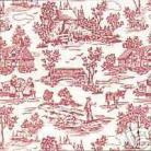 1/24th Campagne Toile - Red Wallpaper