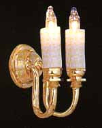 Candle Wall Light - Double