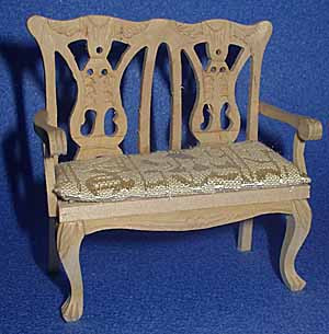 10. Double Chair with Cabriole Legs