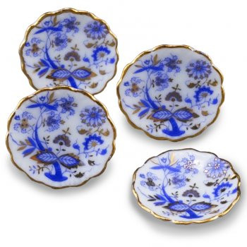 Reutter Dinner Plate Blue and Gold