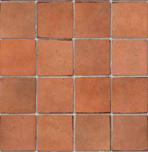 Embossed Terracotta Tile Sheet - Small Tile